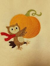 Baby Personalized Burp Cloth Owl and a Pumpkin
