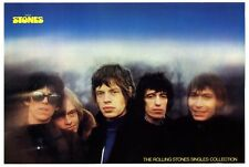 "ROLLING STONES Rare vintage shop POSTER 1980 50x76cm 7"" Singles Collection"