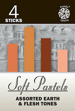 Pentalic 4 Piece Soft Pastels, Assorted Earth & Flesh Tones