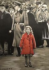 Schindlers List Original Pencil Drawing . Fan-ART A4 . Girl In Red Coat