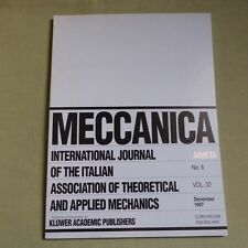 Meccanica 32_6 1997_International Journal of Theoretical and Applied Mechanics