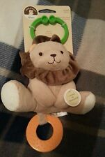 Carter's Child of Mine Lion Chime and Chew hanging Plush Rattle Baby Infant Toy
