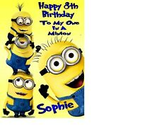 Despicable Me 2 Minion Personalised Birthday Card Greetings Card A5