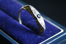 second hand 18ct yellow gold sapphire and diamond eternity ring *sale