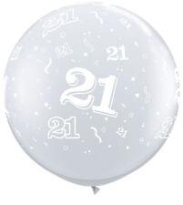 GIGANTE 3 piedi Qualatex 21-a-round DIAMOND chiaro bolla originale con licenza compleanno 1