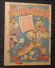 1946 Post Post's Cereals 3 Ring CIRCUS Giveaway Promo Puzzle Game Book VG- 6x8