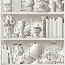 COLLECTIONS WALLPAPER BOOK SHELF - MURIVA J88409 FEATURE WALL DECOR NEW