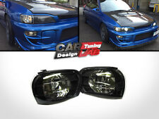 Black Smoke Side Corner Light Lamp E-Mark For 92-00 SUBARU IMPREZA WRX STI GC8