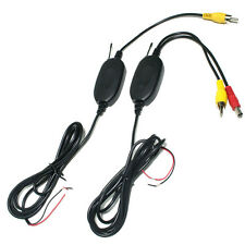 2.4G Wireless RCA Video Transmitter & Receiver for Car Rearview Camera Monitor