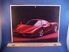 new 2003 Ferrari ENZO exotic full-color calendar art w/backer board to frame