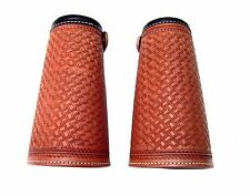 LEATHER COWBOY CUFFS LIGHT OIL BASKET STAMPED LADIES YOUTH NEW APPAREL WESTERN