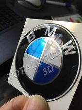 STICKERS  ADESIVO 3D RESINATO  PER AUTO MOTO BMW LOGO CROMATO  SIZE 7 CM  B-146