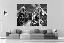 MONTAGNES SNOW MOUNTAINS B&W 01 Wall Art Poster Grand format A0 Large Print