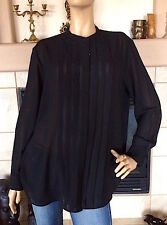 UNIQLO WOMEN BLACK GEORGETTE LONG SLEEVE BLOUSE NWT SIZE L