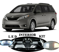 LED Package - Interior + License + Vanity + Reverse for Toyota Sienna (18 Pcs)