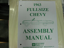 1963 FULLSIZE CHEVY IMPALA, BELAIR, BISCAYNE (ALL MODELS) ASSEMBLY MANUAL
