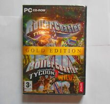 rollercoaster tycoon 3 gold edition version fr inclus wilds cd détaché neuf
