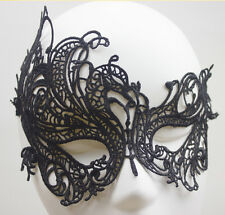vintage Black Cutout Lace Prom Masquerade Halloween Women Party Half Eye Mask