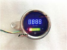Universal LED digital Scooter Tachometer Fuel & Speed Meter Gauge for Motorcycle