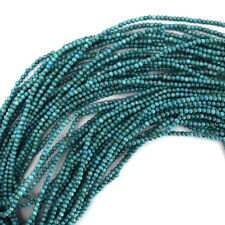 """2mm green turquoise round beads 15.5"""" strand"""