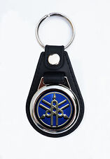 YAMAHA FAUX LEATHER KEY RING / KEY FOB.YAMAHA MOTORCYCLE KEY RING/KEY FOB forks