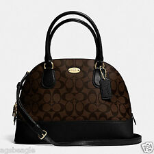 Coach Bag F33904 Signature Cora Domed Satchel Brown Agsbeagle COD
