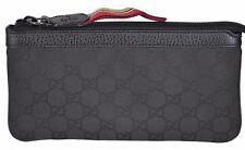 New Gucci Black Nylon 339557 GG Guccissima Zip Top Cosmetic Case Makeup Bag