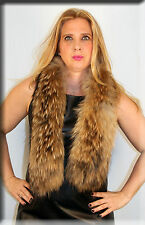 New Finnish Raccoon Fur Scarf - Efurs4less
