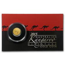 2015 Australia 1/2 Gram Gold Kangaroo Mini Roo BU - SKU 87682