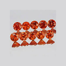 3mm 10pcs Round Diamond cut Accent Stone Natural RED ORANGE SAPPHIRE