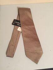 Aurelio Valentino Neck Tie 100% Silk Geometric Metallic Designer (T34)