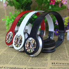 Anime Fairy Tail Stereo Headband Headphone Earphone MP3 Phone PC Microphone &Box