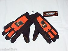 Mens Large HARLEY DAVIDSON Motorcycles # 1 Riding Driving Leather Palm Gloves