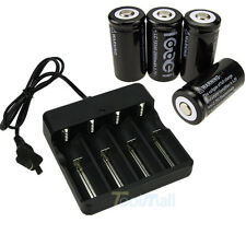 New 4PCS CR123A 123A CR123 16340 2000Mah Rechargeable Battery BTY + UL Charger