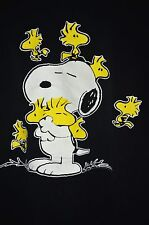 Snoopy Woodstock Charlie Brown Tee Shirt Size Medium Black Flirts