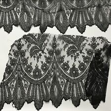 2 METRAGES 2 x 50 cm Dentelle fin XIXè Guipure Antique French LACE 19thC