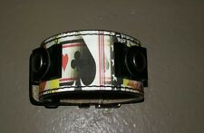 RELIC Playing Card/ Gambling HOLOGRAM Watch Band Cuff (1 1/8 in Wide)