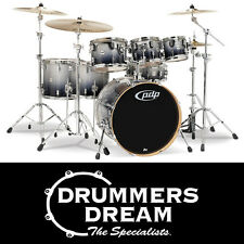 DW PDP Drum Kit CM7 Concept Series 7-Piece Maple Silver to Black Fade Finish