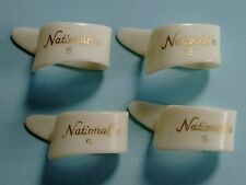 "Vintage National Thumb Picks Small - Set of 4 - ""Ole Whites"" made in japan"
