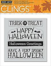 NEW Hero Arts Cling Stamp Halloween Messages