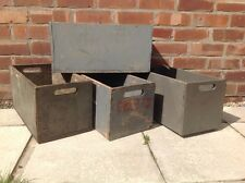 Vintage Large Library Boxes Antique Storage Wooden Crates Containers Planters