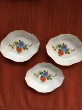 3 KAISER Exclusive Bavaria CHINESE CHRYSANTHEMUM Cabinet KANTON Trinket/Nut Dish