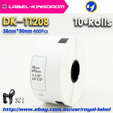 10Rolls Brother QL-570 Compatible DK-11208 Label 38*90mm Adhesive Label Sticker