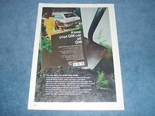 1968 GM Parts Vintage Color Ad with 1966 Caprice Station Wagon Impala