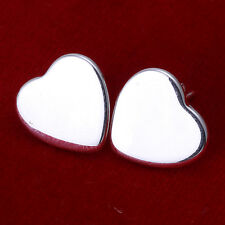 Wholesale 925Sterling Silver Lovely Heart Shape Woman Earrings Stud EB010