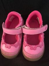 EUC Stride Rite Surprize Toddler Girl Sz. 4  Angie Pink Mary Janes baby