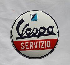 Vespa Servitio - Emailschild - Schild - Türschild - TOP - Emaille Schild