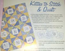 Kitties to Stitch and Quilt 15 Redwork Designs complete w/ kitty cat transfers