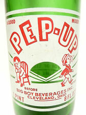 vintage ACL Soda POP  Bottle - green PEP-UP of CLEVELAND, OHIO - 24 oz ACL