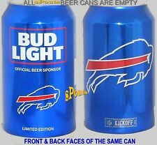 2016 BUFFALO BILLS BUD LIGHT KICKOFF BEER CAN NY BISON FOOTBALL SPORTS MAN CAVE